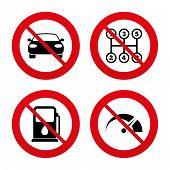 foto of car symbol  - No - JPG