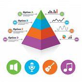 pic of musical symbol  - Pyramid chart template - JPG