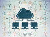 stock photo of binary code  - Cloud technology concept - JPG