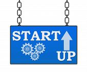 stock photo of start over  - Start up concept image with text written over signboard - JPG