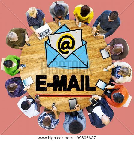 Email Correspondance Online Messaging Technologgy Concept