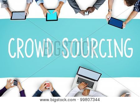 Crowdsourcing Collaboration Group Online Community Concept