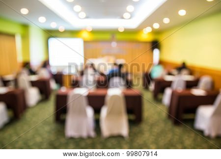 Blurred Image Of Auditorium For Background