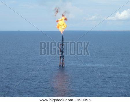 Brennende Fackel-Boom