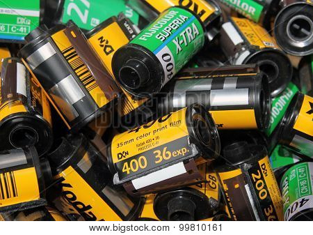 Empty  Cassettes Of Film