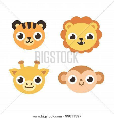 Cartoon Savanna Animals
