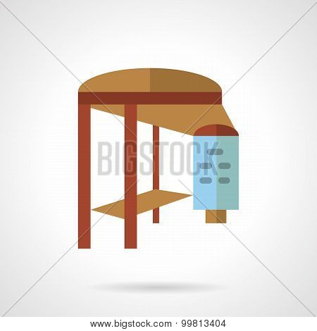Bus stop vector icon flat style