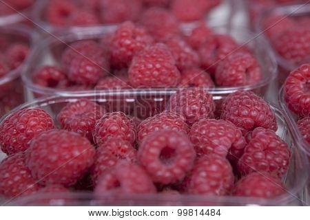 Fresh juicy raspberry on the market.