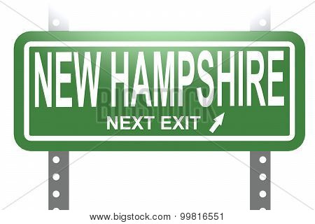 New Hampshire Green Sign Board Isolated