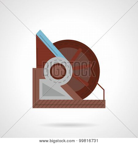 Winch vector icon flat style