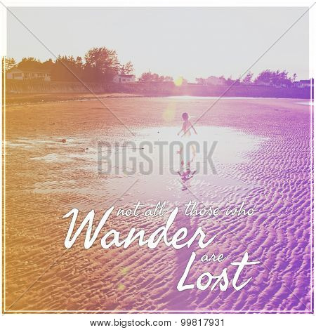 Inspirational Typographic Quote - Wander lost