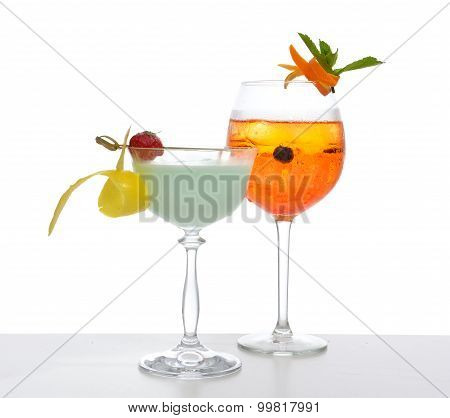Green Red Orange Alcohol Margarita Martini Mojito Cocktails Collage