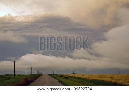 Storm Clouds Prairie Sky