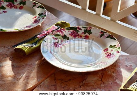 table setting at Provence style