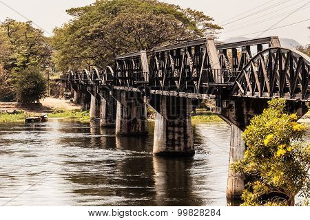 Famous Bridge On The River Kwai