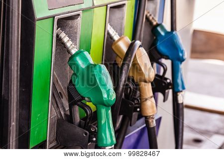Colored Petrol Gas Pump Nozzles