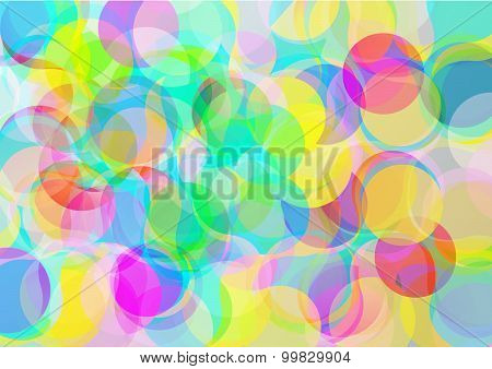 Background with abstract color bubbles