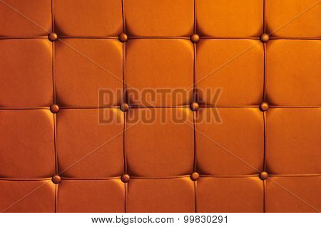 Red Image Of Genuine Leather Upholstery