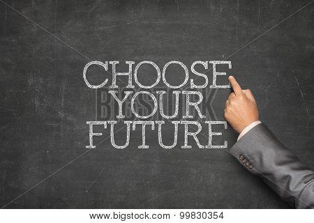 Choose your future text on blackboard