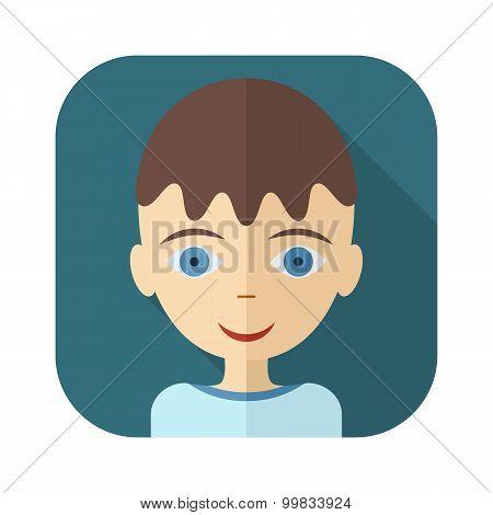 Flat avatars of children - boy