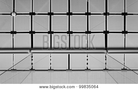 Suspended Ceiling With Curtain (black And White)