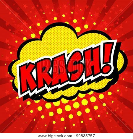 Krash! - Comic Speech Bubble, Cartoon.