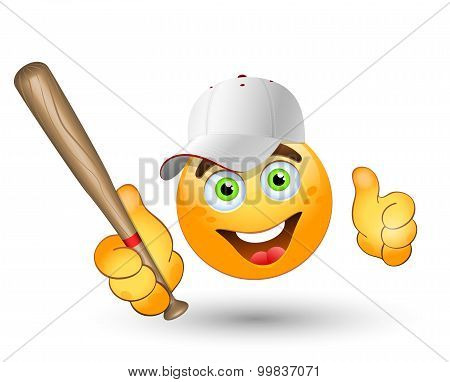 Cartoon  Baseball Player. Vector