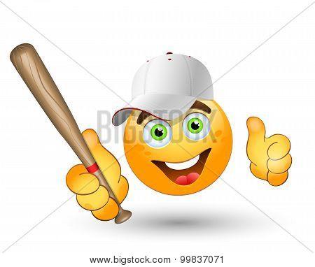 Cartoon  Baseball Player. Vector