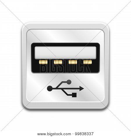 Vector Usb Socket Icon