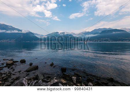 Como lake in Italy, Alps, Europe.
