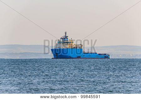 Industrial cargo ship