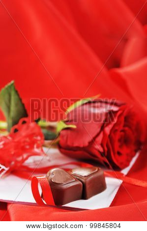 Chocolate And Rose