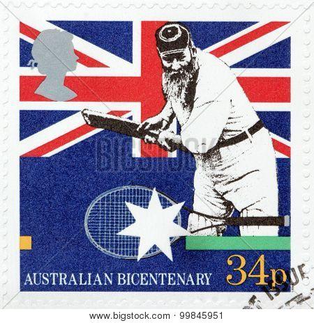 Cricketer Stamp