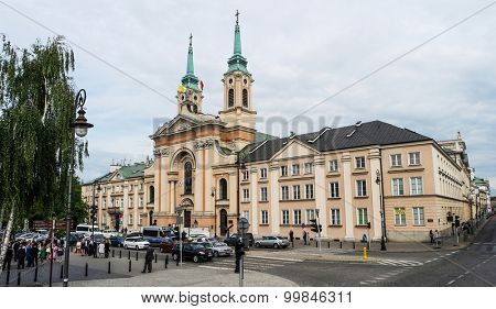 Warsaw, Poland - june 20, 2015: view on Church of Our Lady Queen of Poland in Warsaw