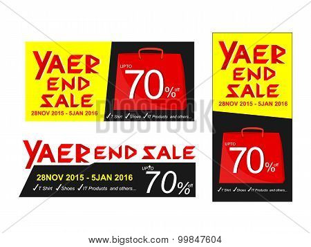 Year End Sale Vector