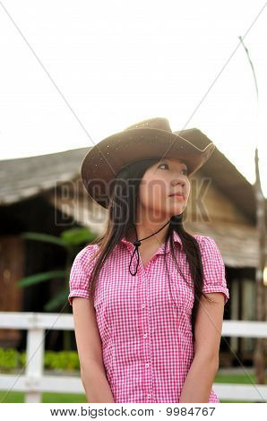 cowgirl waiting