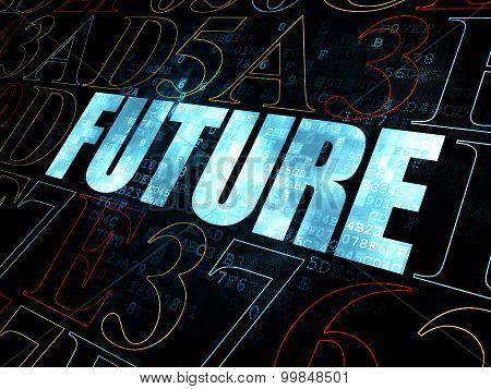 Timeline concept: Future on Digital background