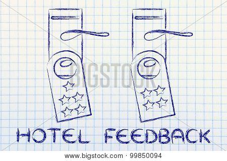 Hotel Feedback, Door Hangers With Ranking