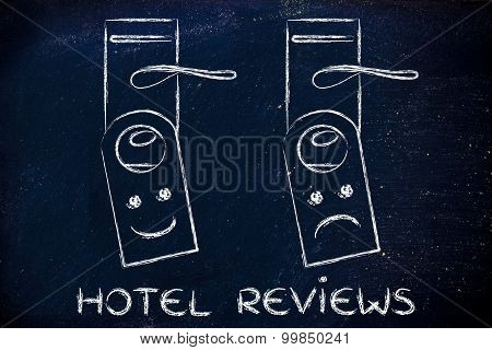 Hotel Reviews: Happy And Sad Face