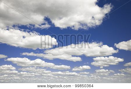 Blue sky and white clouds.