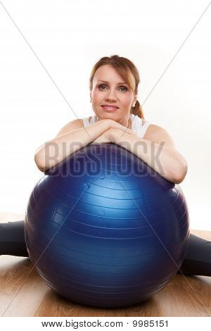 Balancing On Swiss Ball