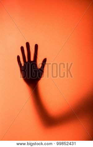 Silhouette Of Action Of Woman Scream