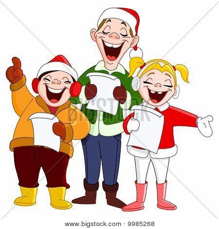 Cantantes de villancicos de Navidad