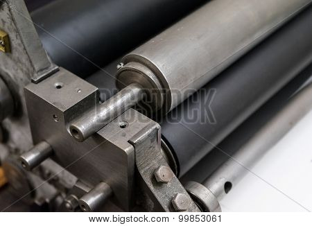 Fragment Of The Old Machine In Printing House