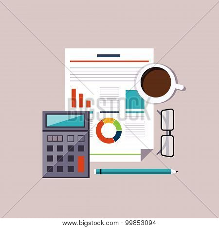 Financial accounting stock market analysis. Budget planning concept.