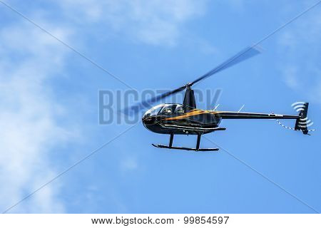 The Robinson R44 light utility helicopter
