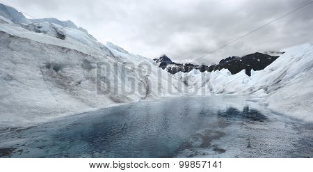 Lake in the Mendenhall Glacier, Alaska