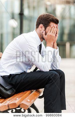 Stressed Businessman.