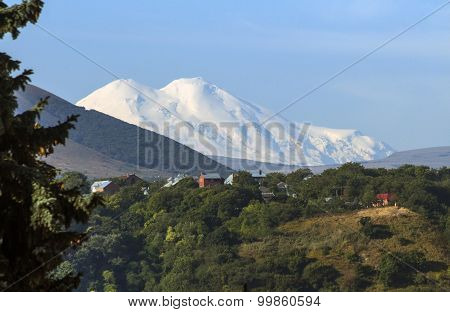 View On Mountain Elbrus Of Pyatigorsk City