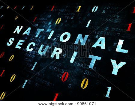 Privacy concept: National Security on Digital background